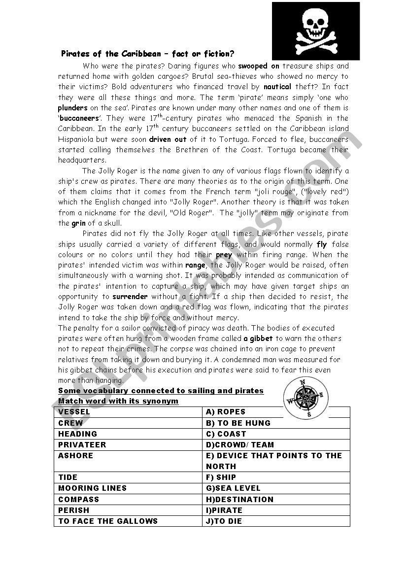 pirates of the caribbean 2 - ESL worksheet by petisa