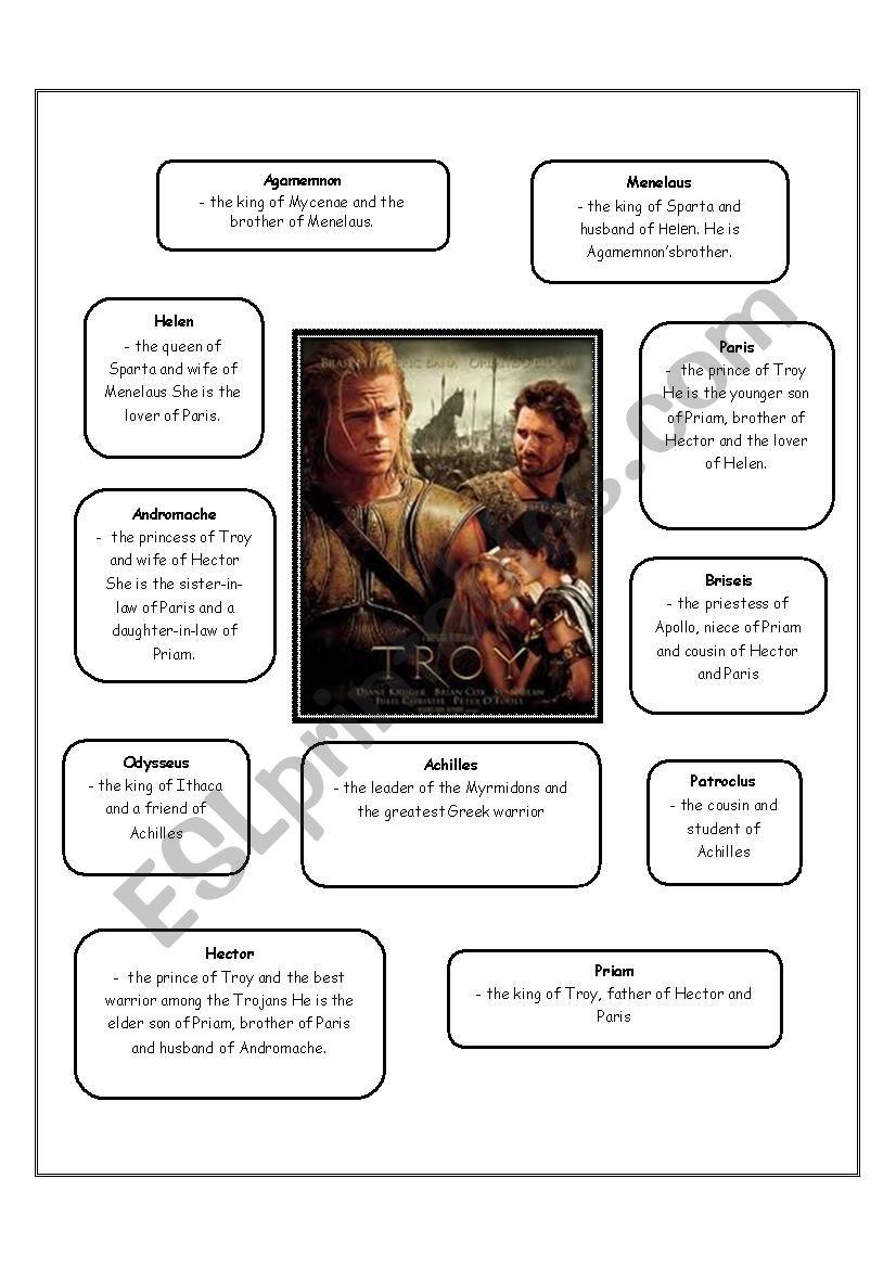 worksheet Troy Movie Worksheet english worksheets troy movie worksheet worksheet