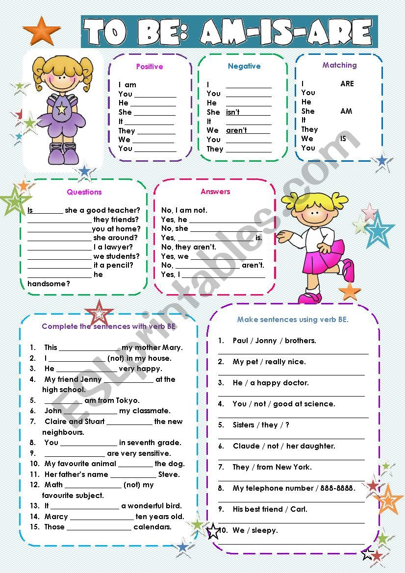 VERB TO BE EXERCISES!!! worksheet