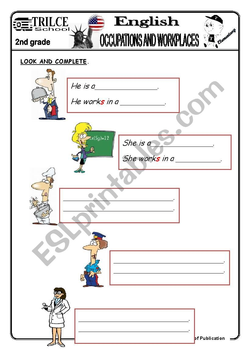 WHERE DO THEY WORK? - ESL worksheet by trilce2011