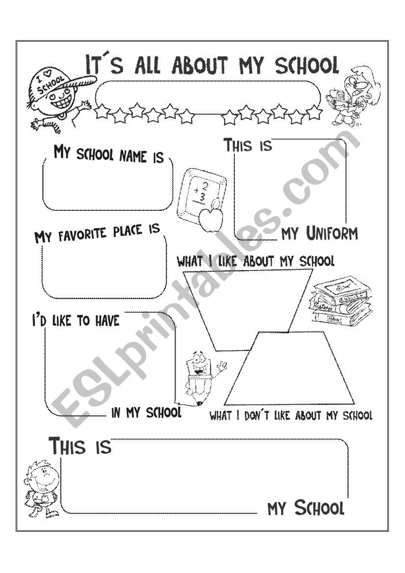 It´s all about my school - ESL worksheet by luciaphdezc