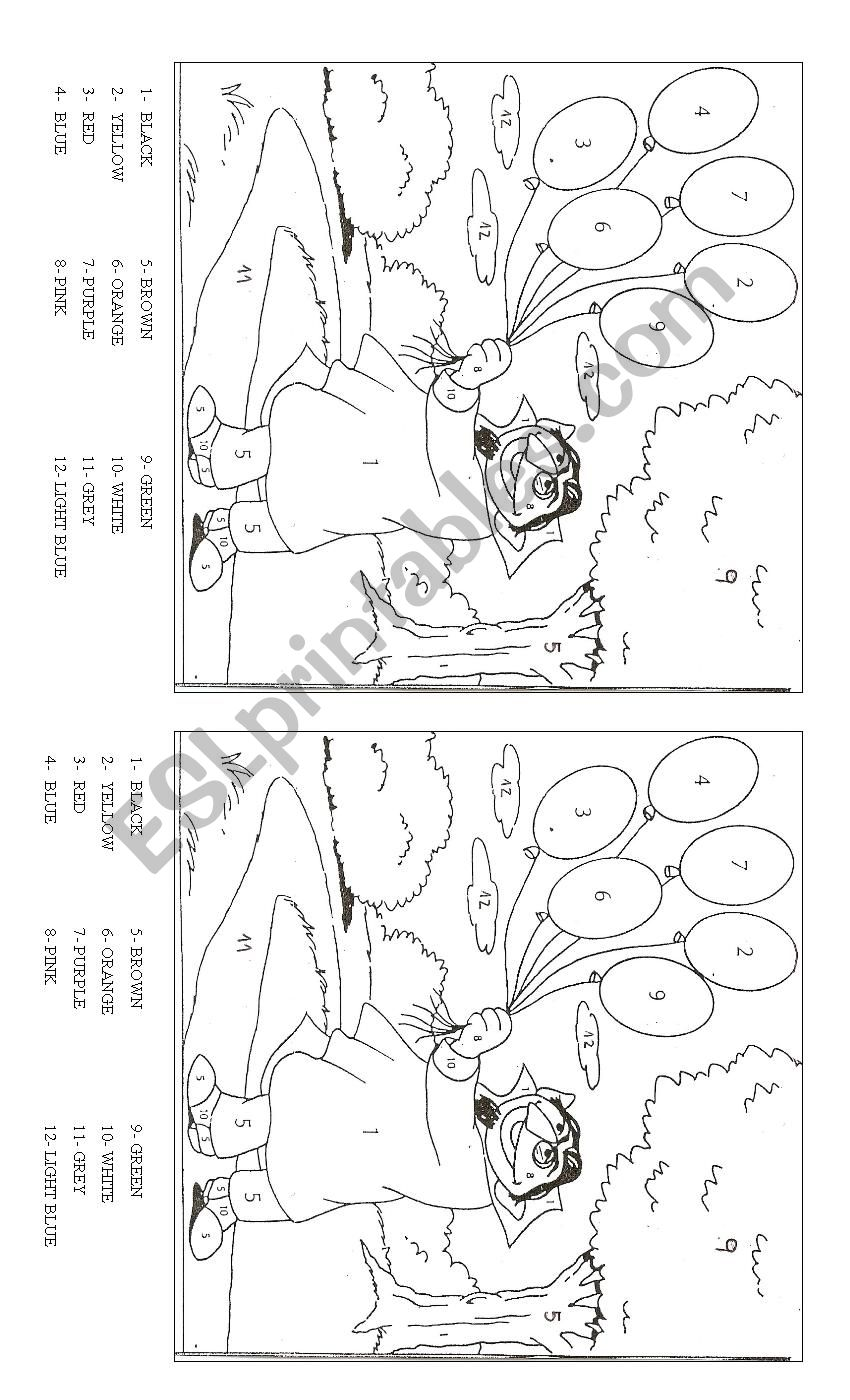 Colour the Count worksheet