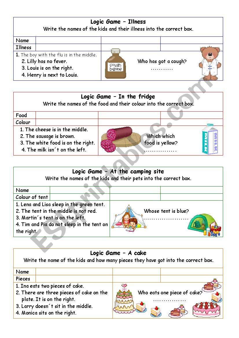 Logic games for young learners-02 (+key)
