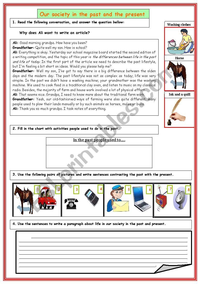 Guided writing worksheet