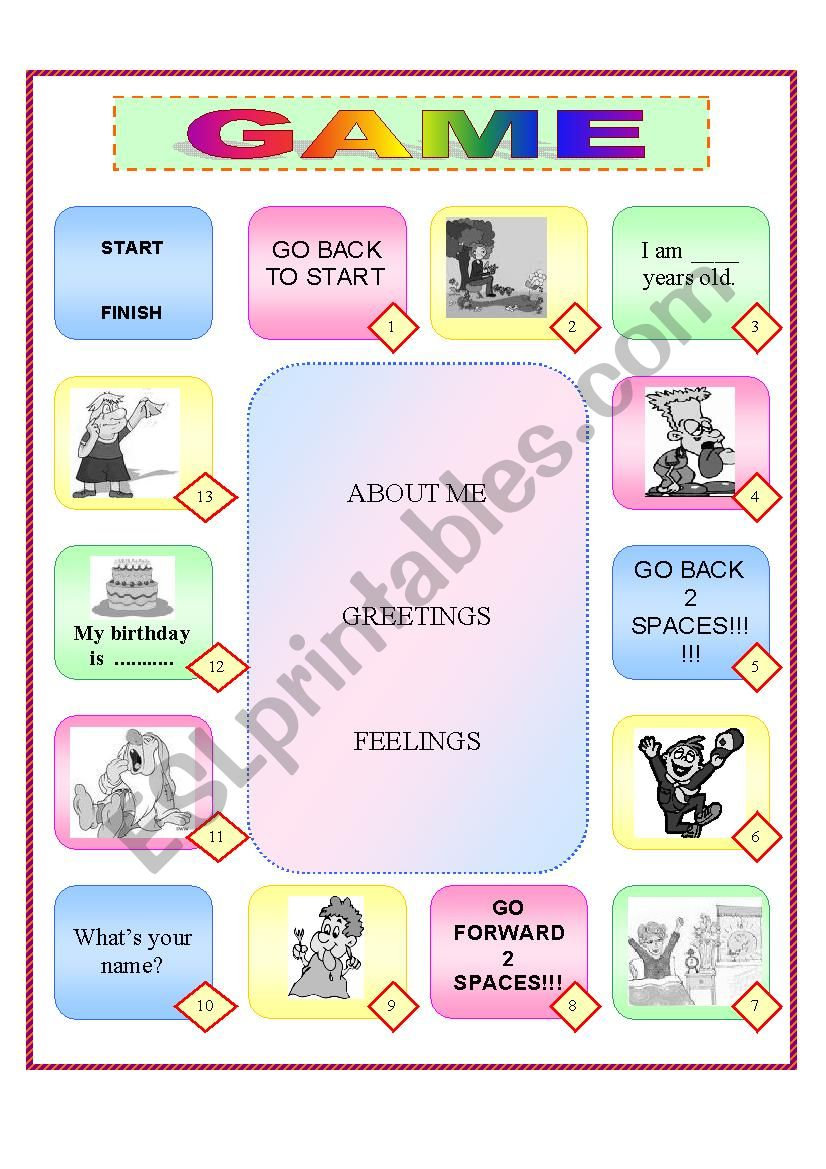 Greetings game esl worksheet by smiltele29 greetings game worksheet m4hsunfo