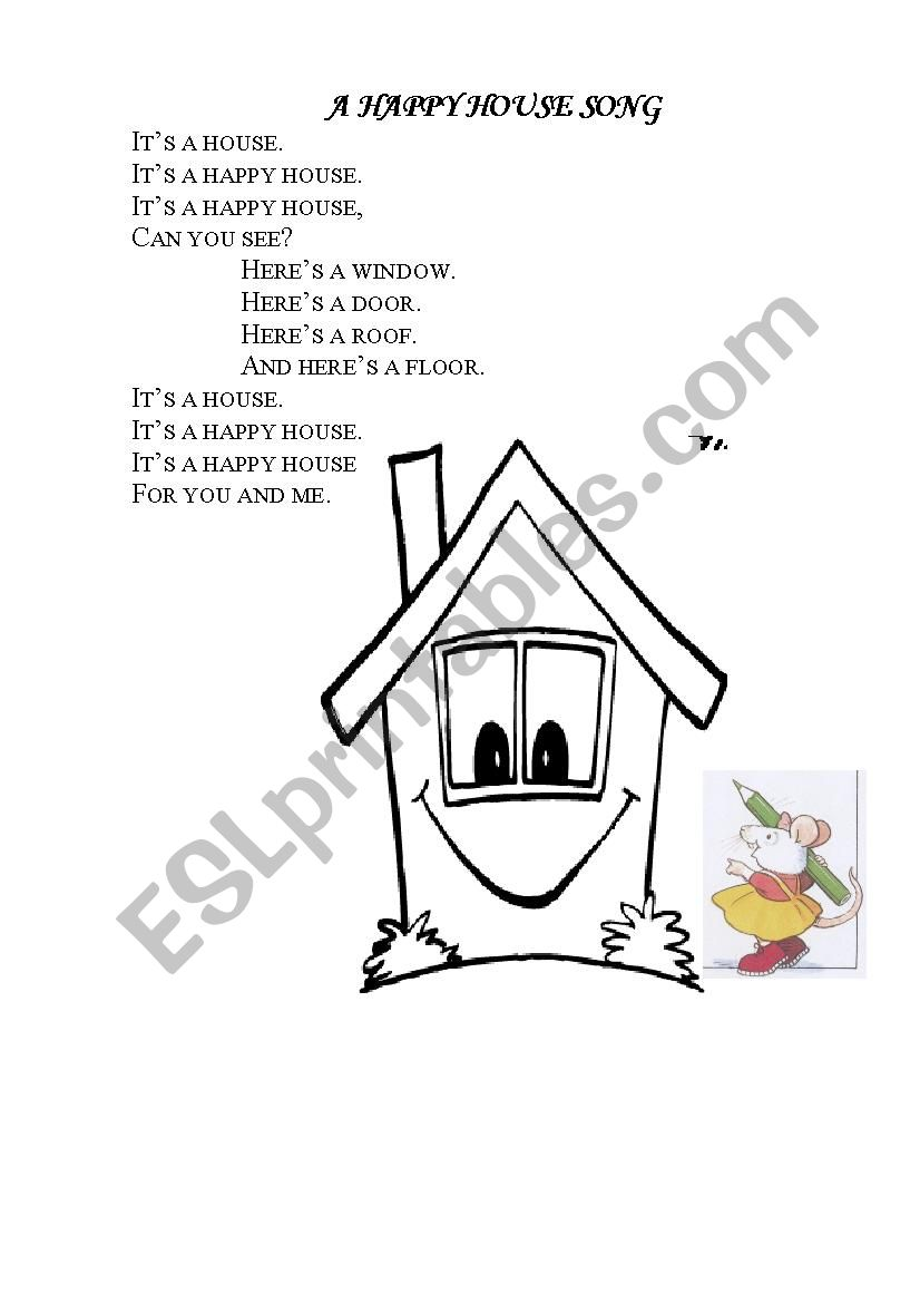 A happy house chant worksheet