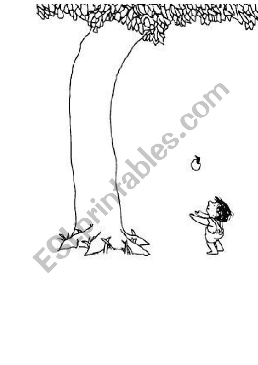 picture regarding The Giving Tree Printable Worksheets called The Providing Tree - ESL worksheet through lady_robber