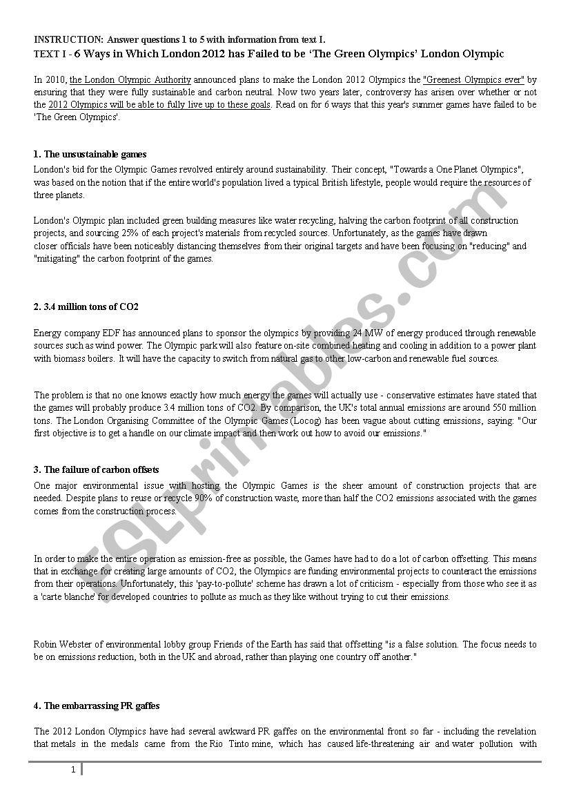 College entrance exam exercises - ESL worksheet by Rodegheri