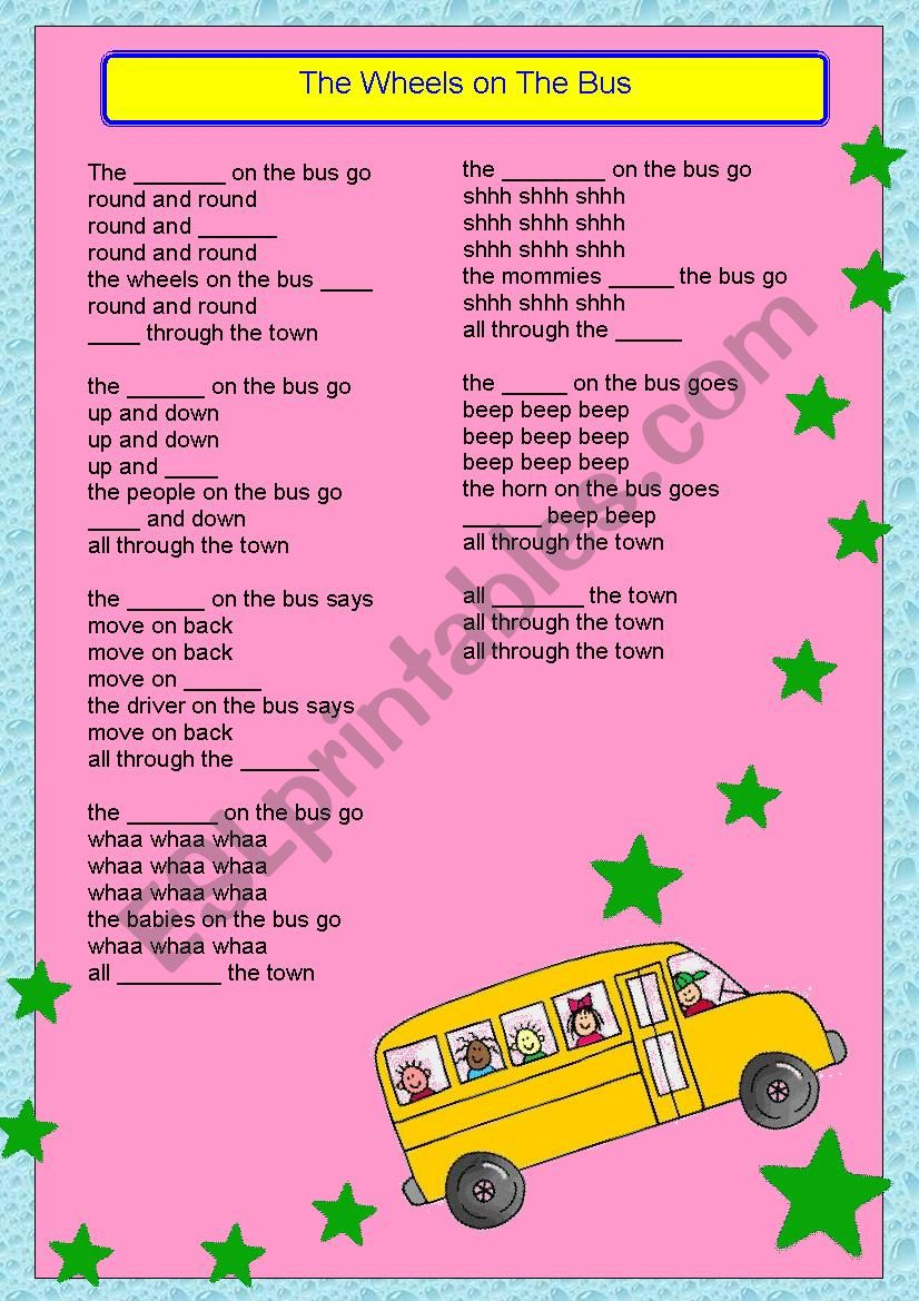 The Wheels on the Bus Song ( with solution)