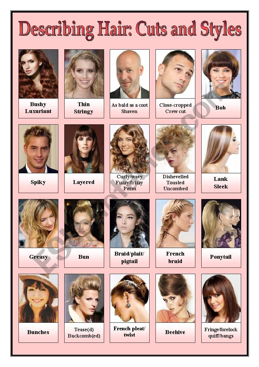 Describing Hair - Cuts and Styles