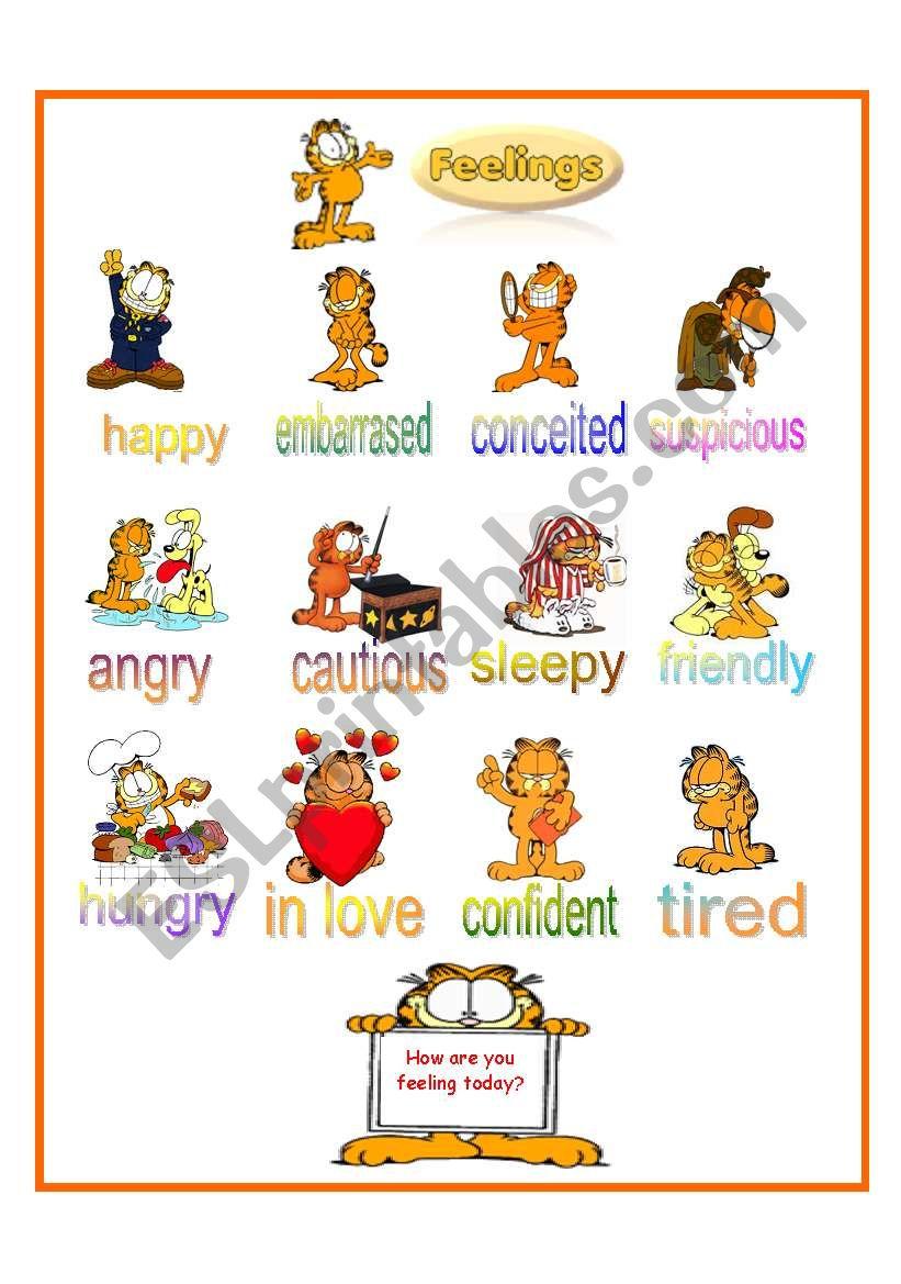 Feelings according to Garfield