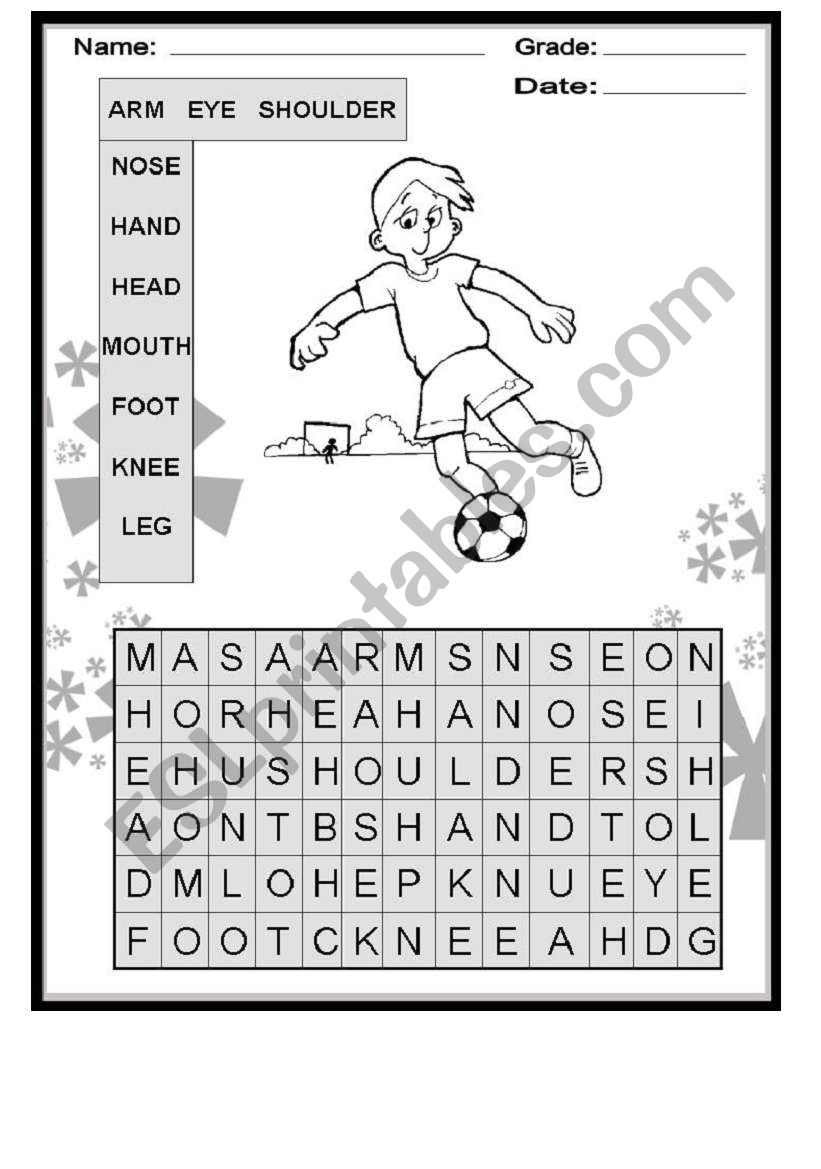 Activity about Body Parts - ESL worksheet by iricky82