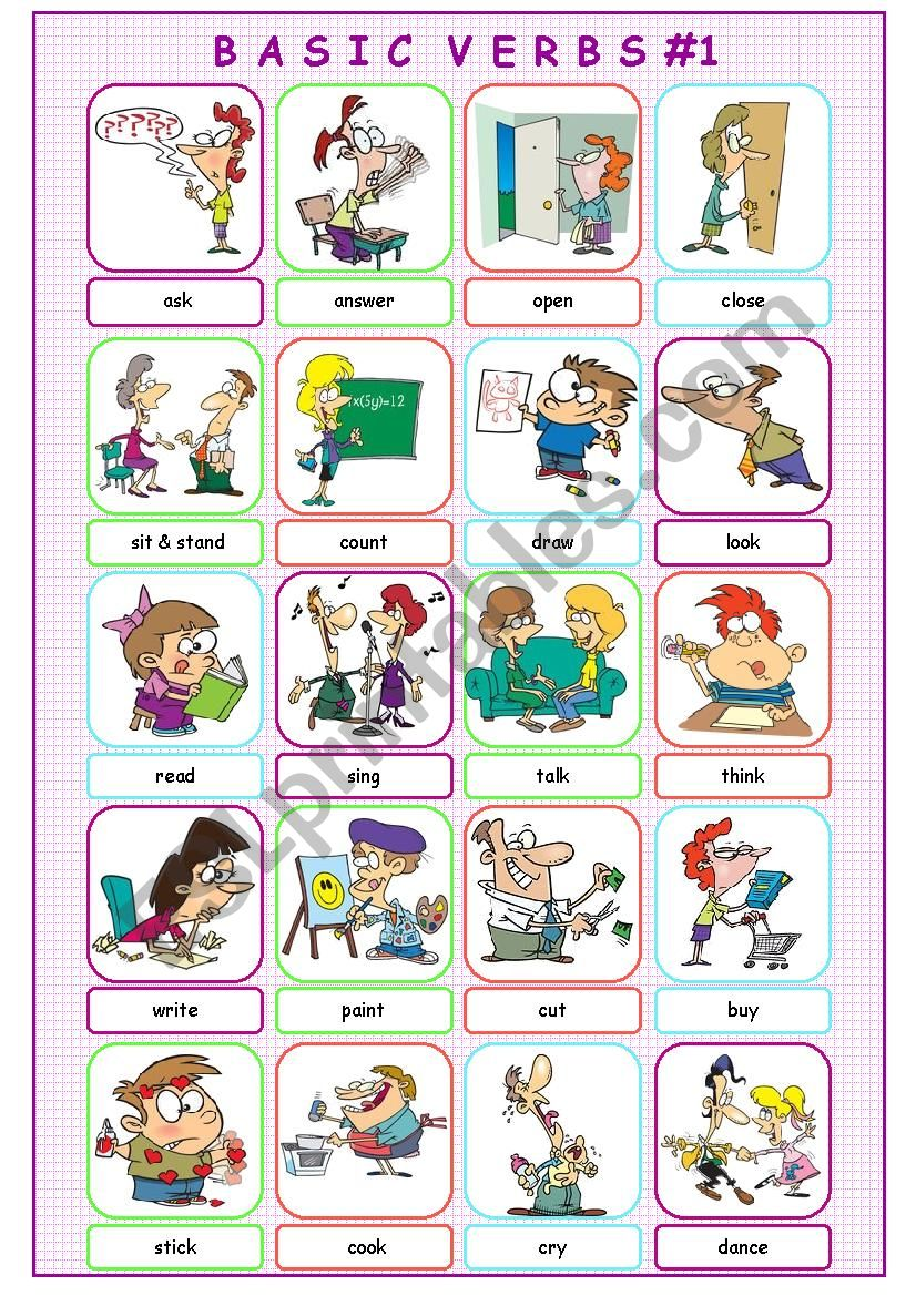 Basic Verbs #1 worksheet