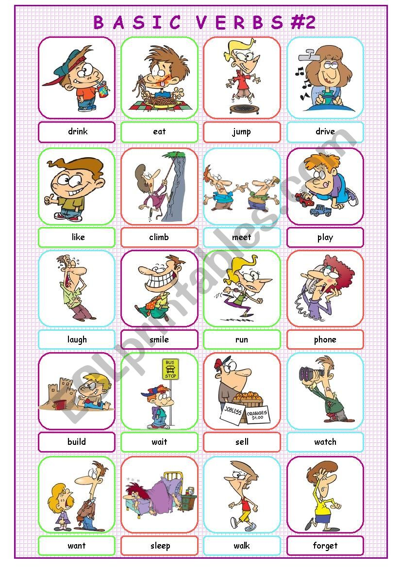 Basic Verbs #2 worksheet