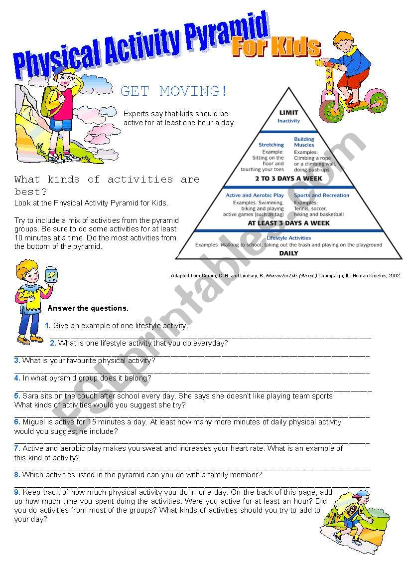 This is a graphic of Bewitching Physical Education Printable Worksheets