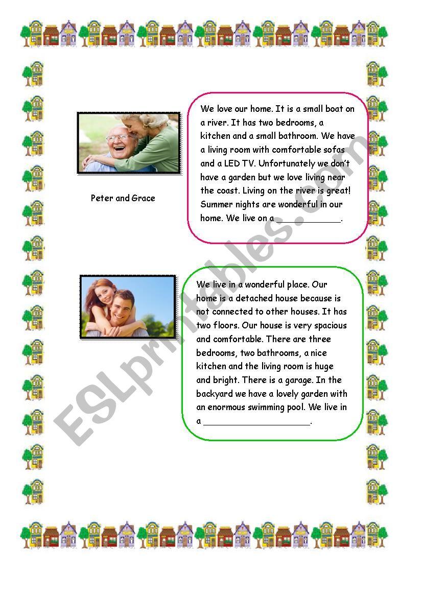 Descriptions of   Houses. Reading(SET 2)