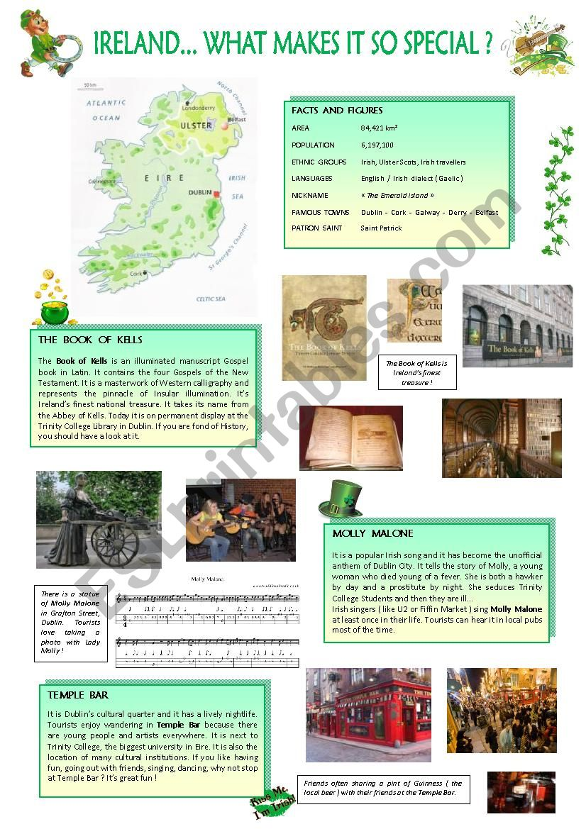 Ireland... What makes it so special... ( 3 pages )