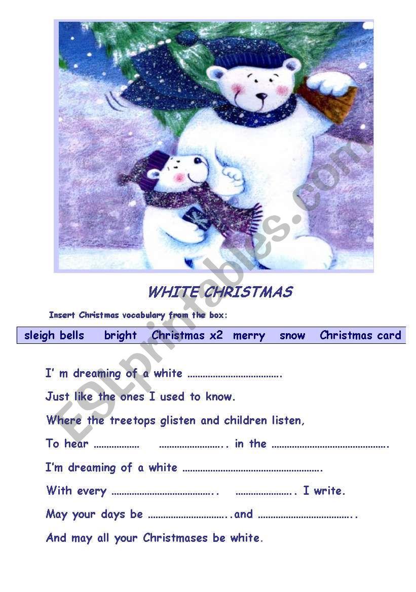 White Christmas worksheet - ESL worksheet by zeberka