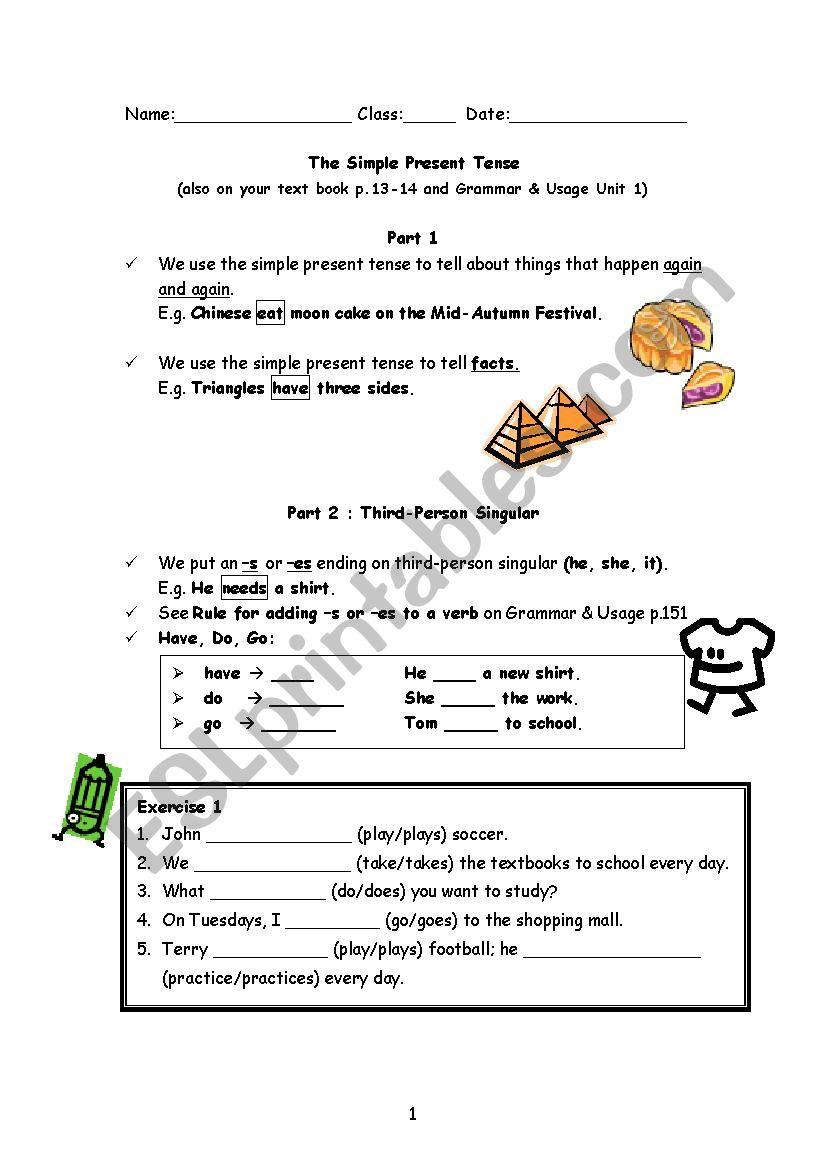 Simple Present Tenses Esl Worksheet By Fannyfan88