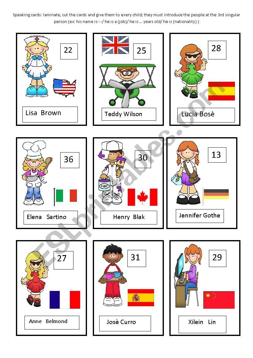 jobs speaking cards part 2 worksheet