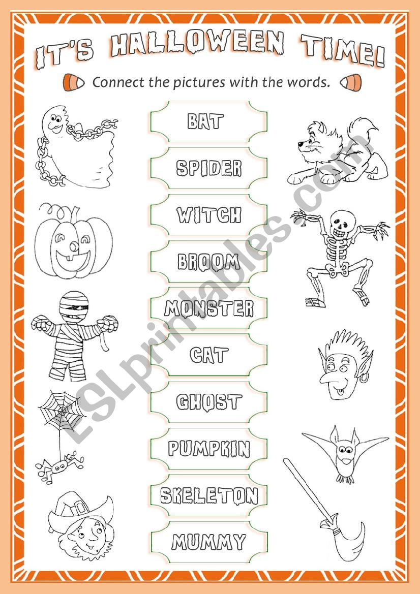 Halloween * vocabulary * worksheet