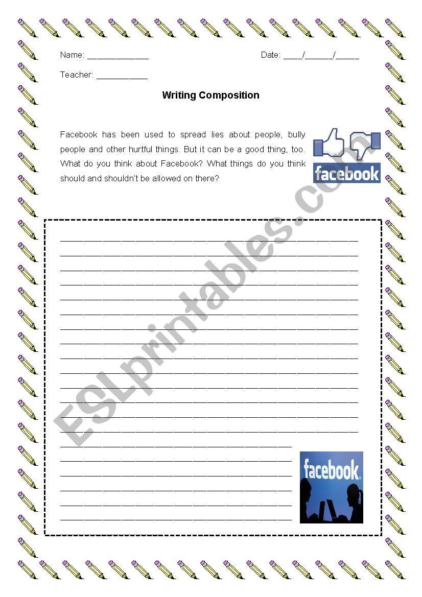 writing composition esl worksheet by ricardo86. Black Bedroom Furniture Sets. Home Design Ideas