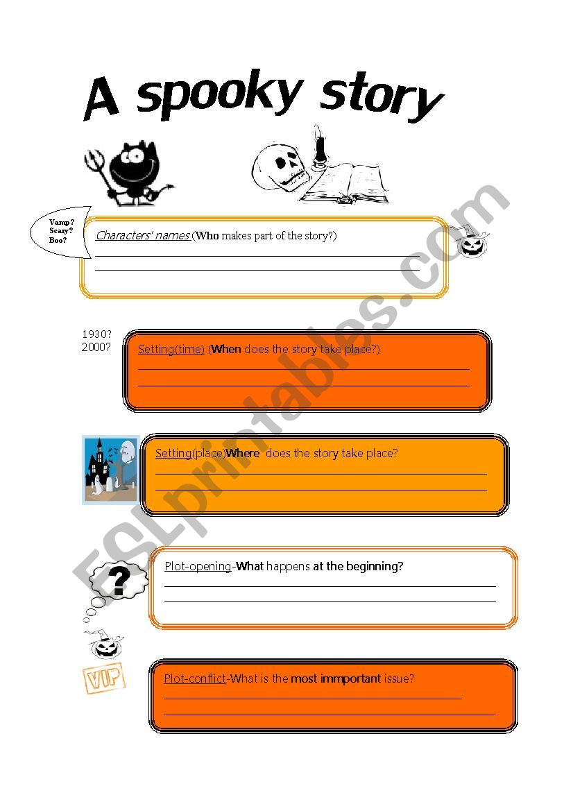 A spooky story_reading_form worksheet