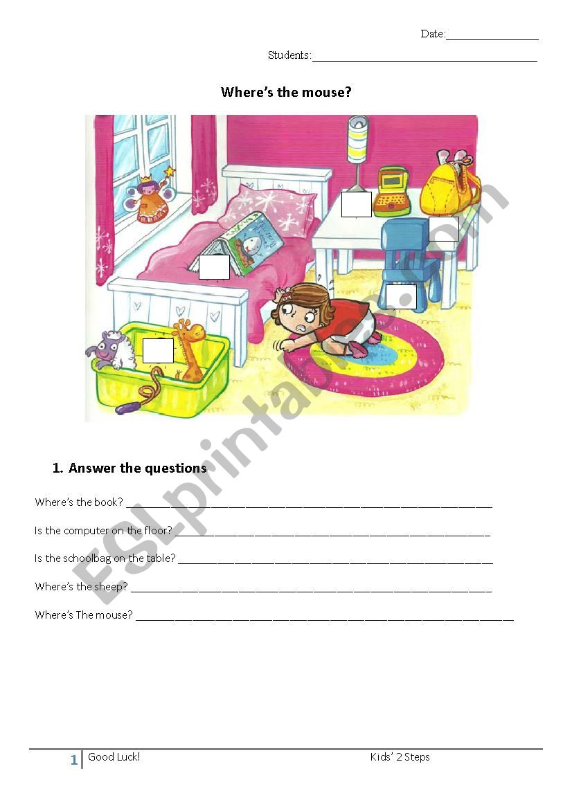 Where is? worksheet