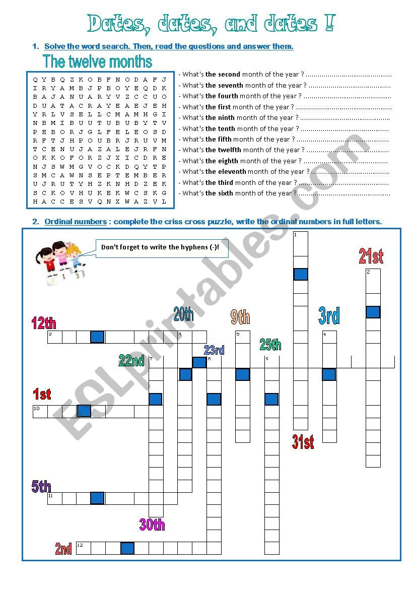 What´s the date ? worksheet