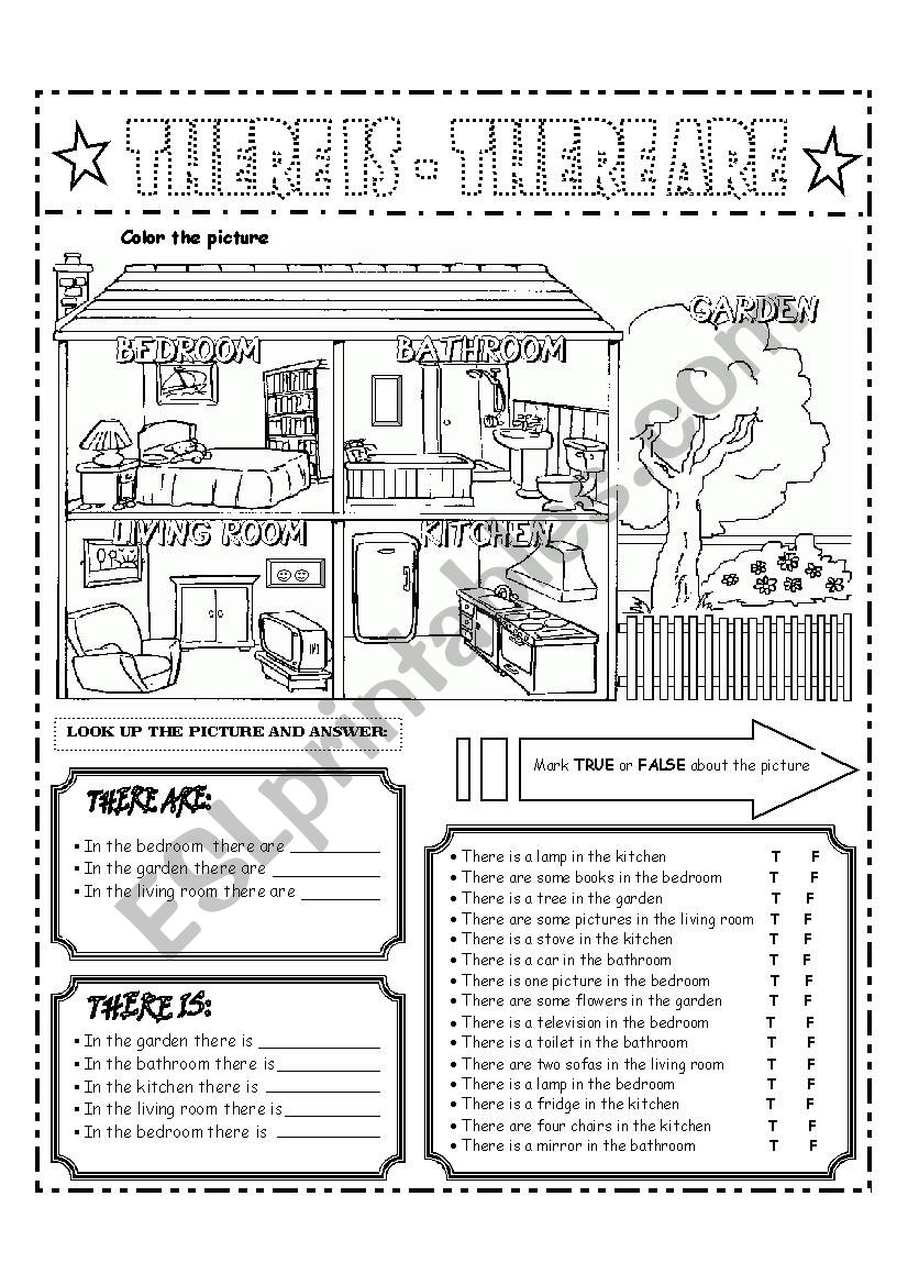 THERE ARE and THERE IS  worksheet