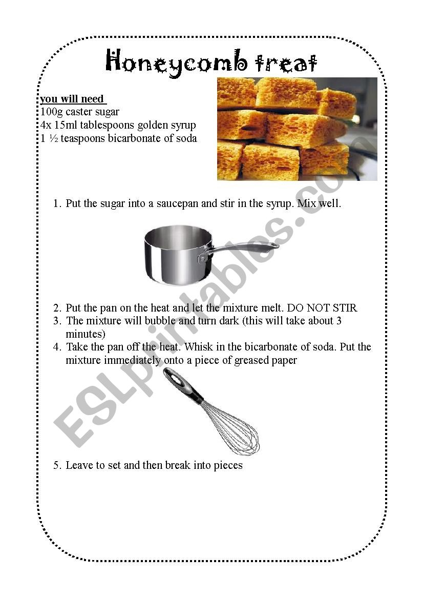 Halloween recipe worksheet