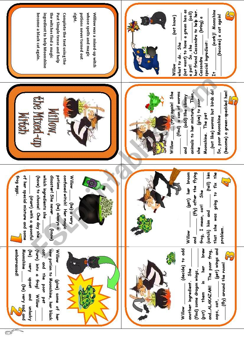 Mini Book - A Halloween Story worksheet
