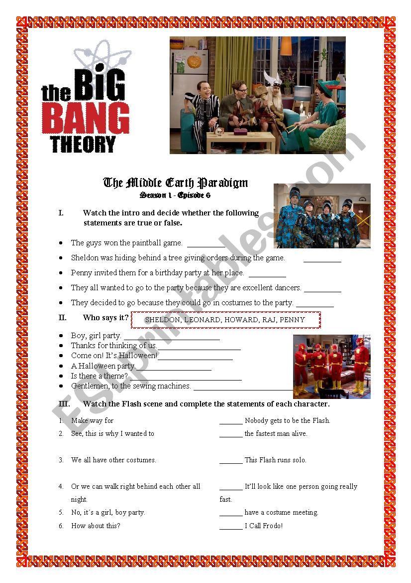 Big Bang Theory - The Middle Earth Paradigm