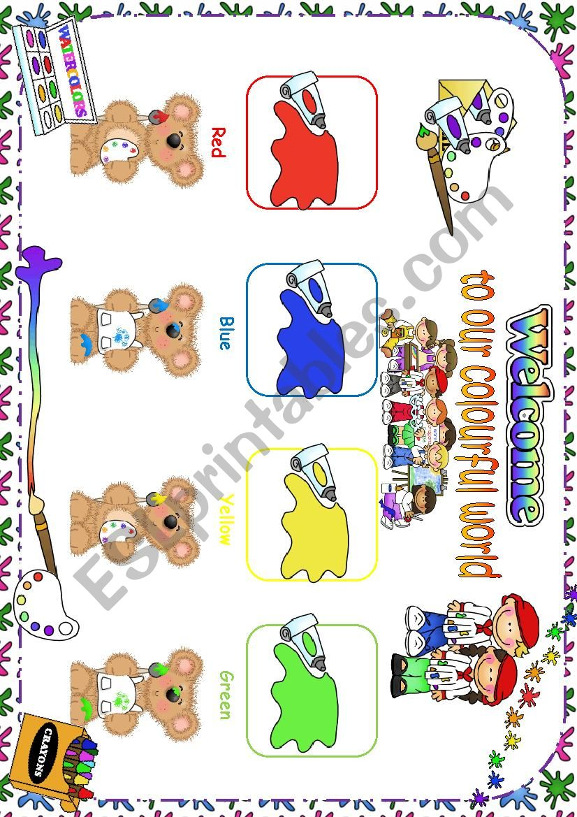 Colours Classroom Poster worksheet