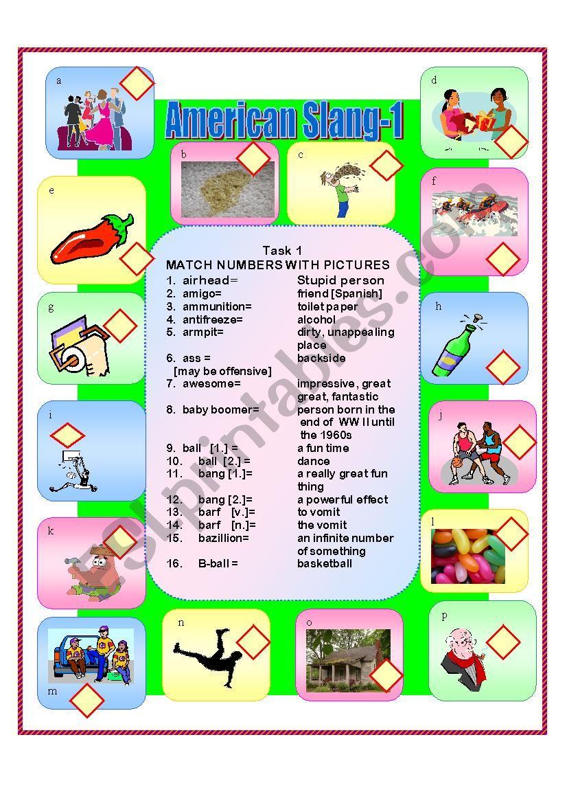 American Slang-1 worksheet