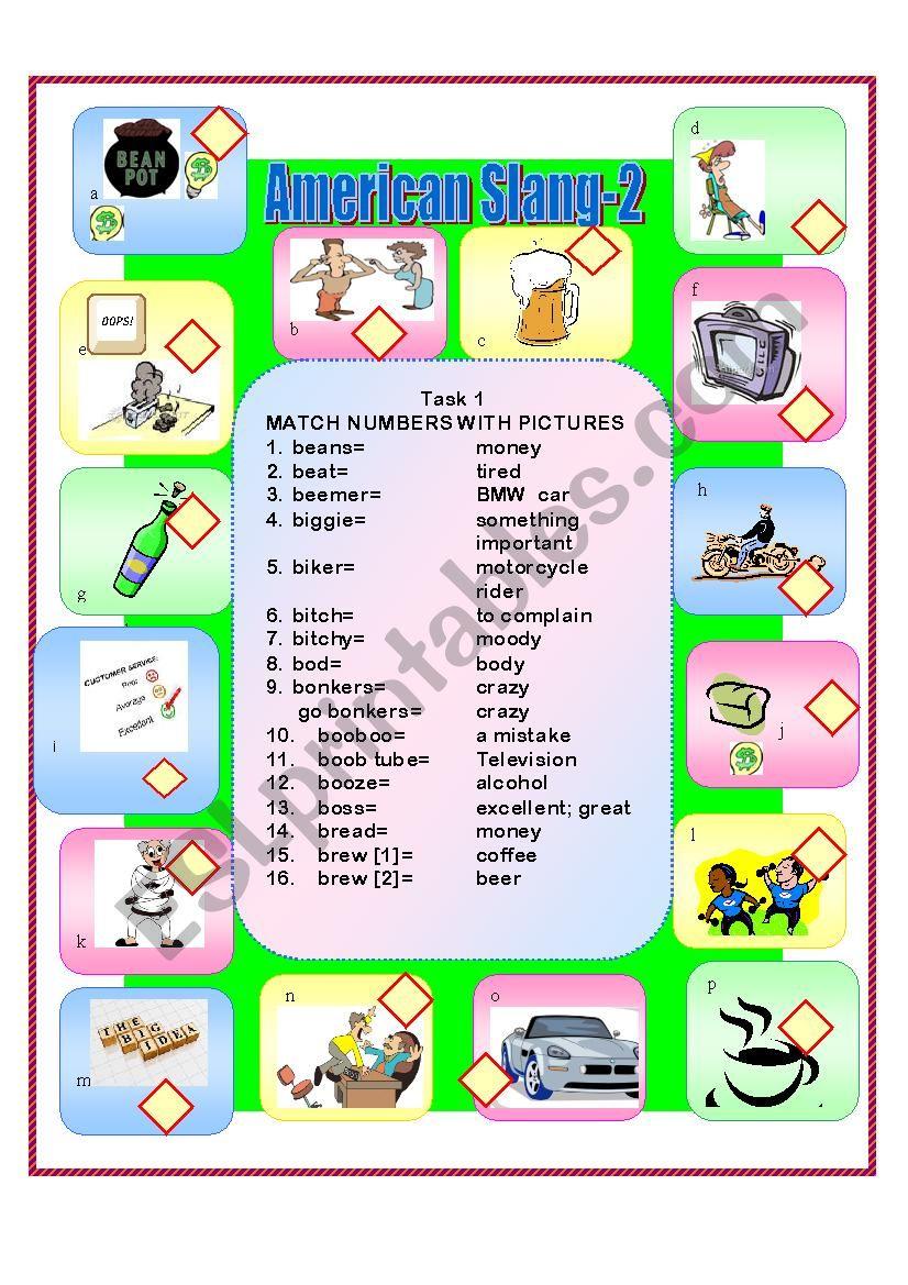 American Slang-2 worksheet