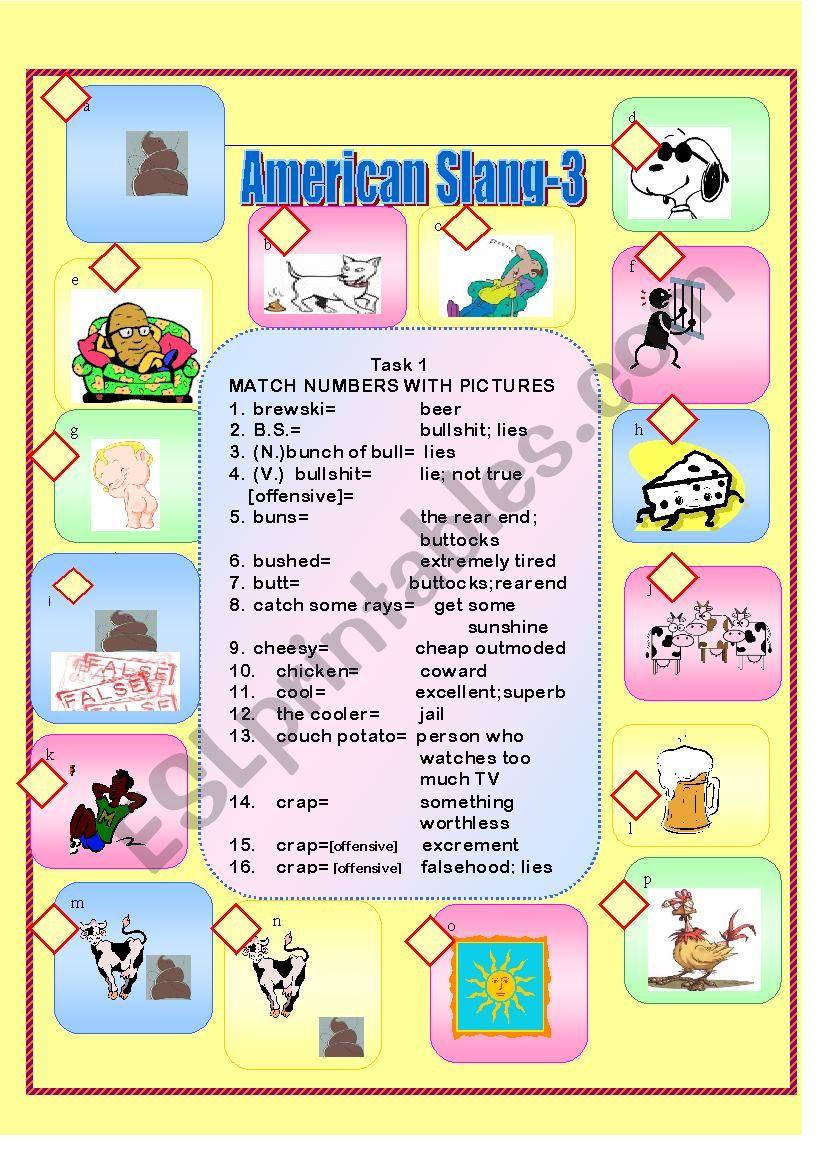 American Slang-3 worksheet
