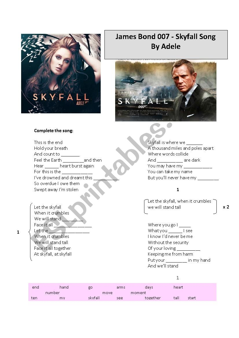 James Bond 007 - Skyfall song by Adele
