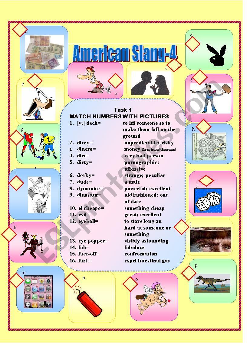 American Slang-4 worksheet