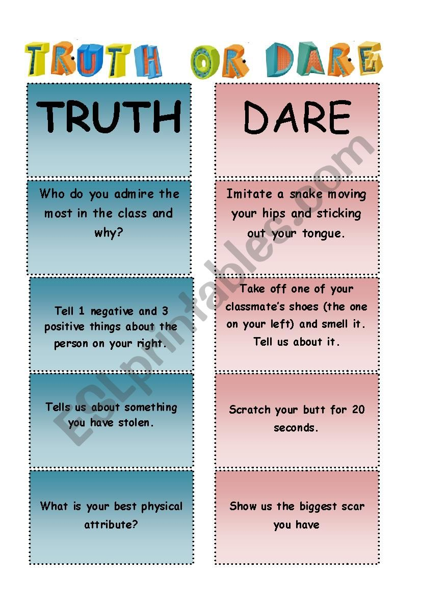 Xxx questions for truth or dare