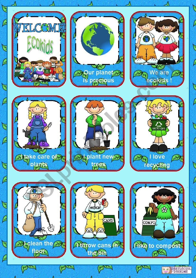 Precious planet - Ecokids worksheet
