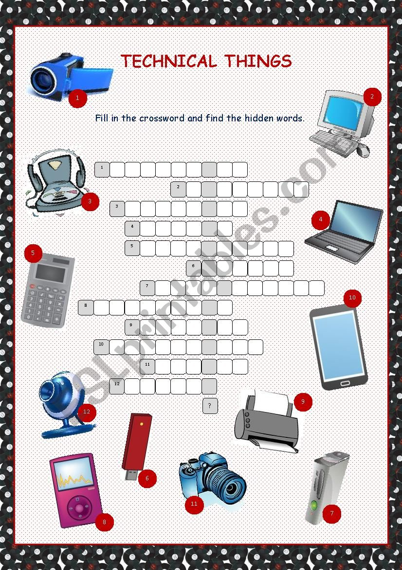 Technical Things Crossword Puzzle