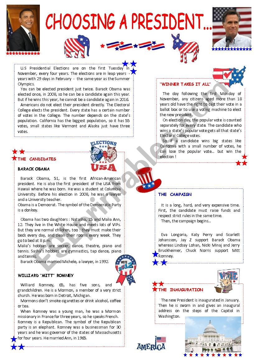 Choosing a president... ( 2 pages )