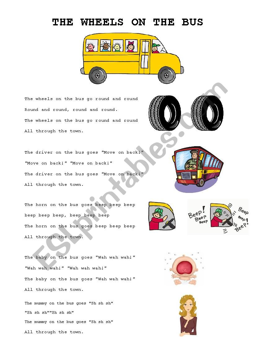 Song: The wheels on the bus (+ activity)