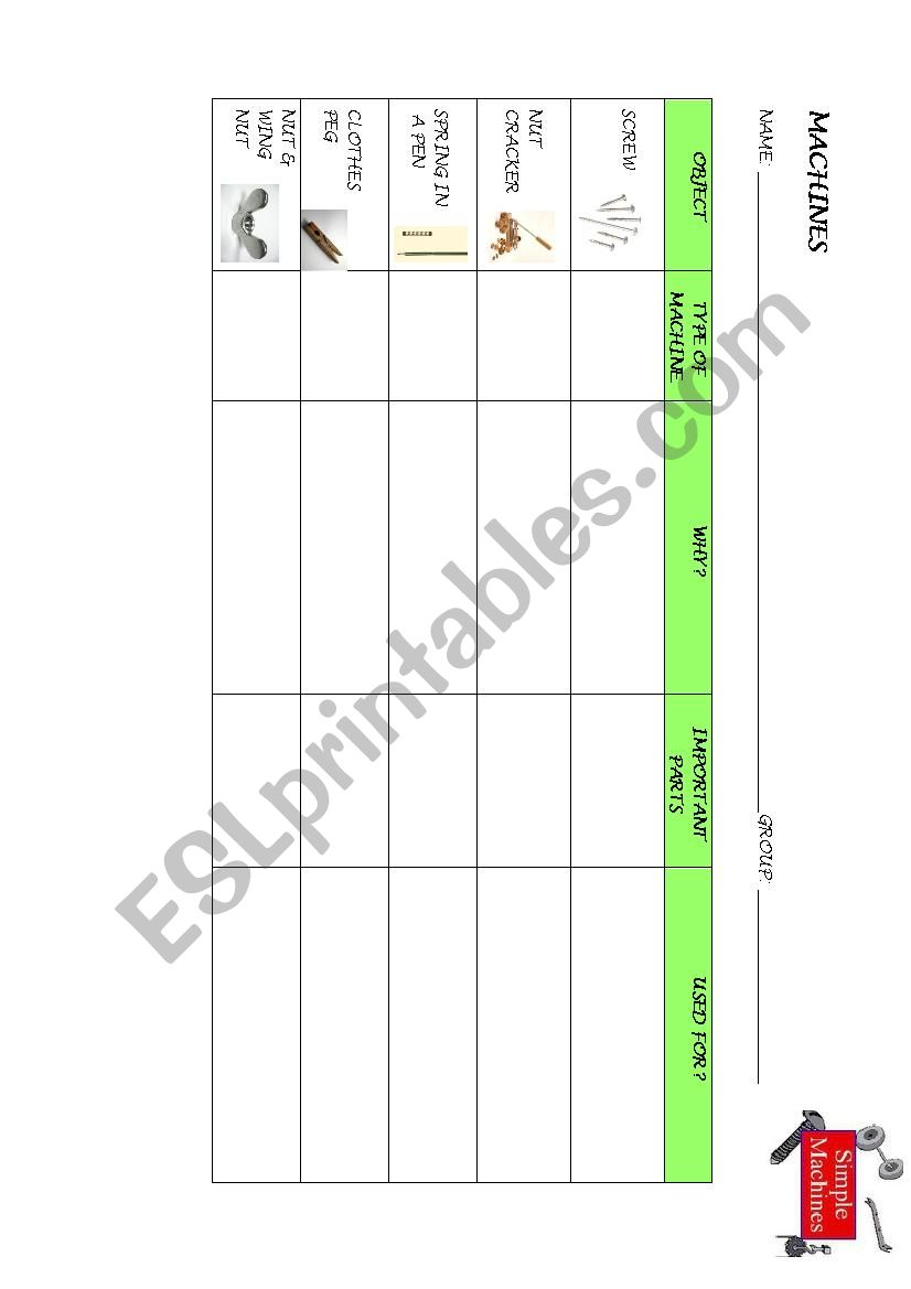 photograph relating to Simple Machines Printable Worksheets identify CLIL Uncomplicated Products - ESL worksheet by way of angeles bosch