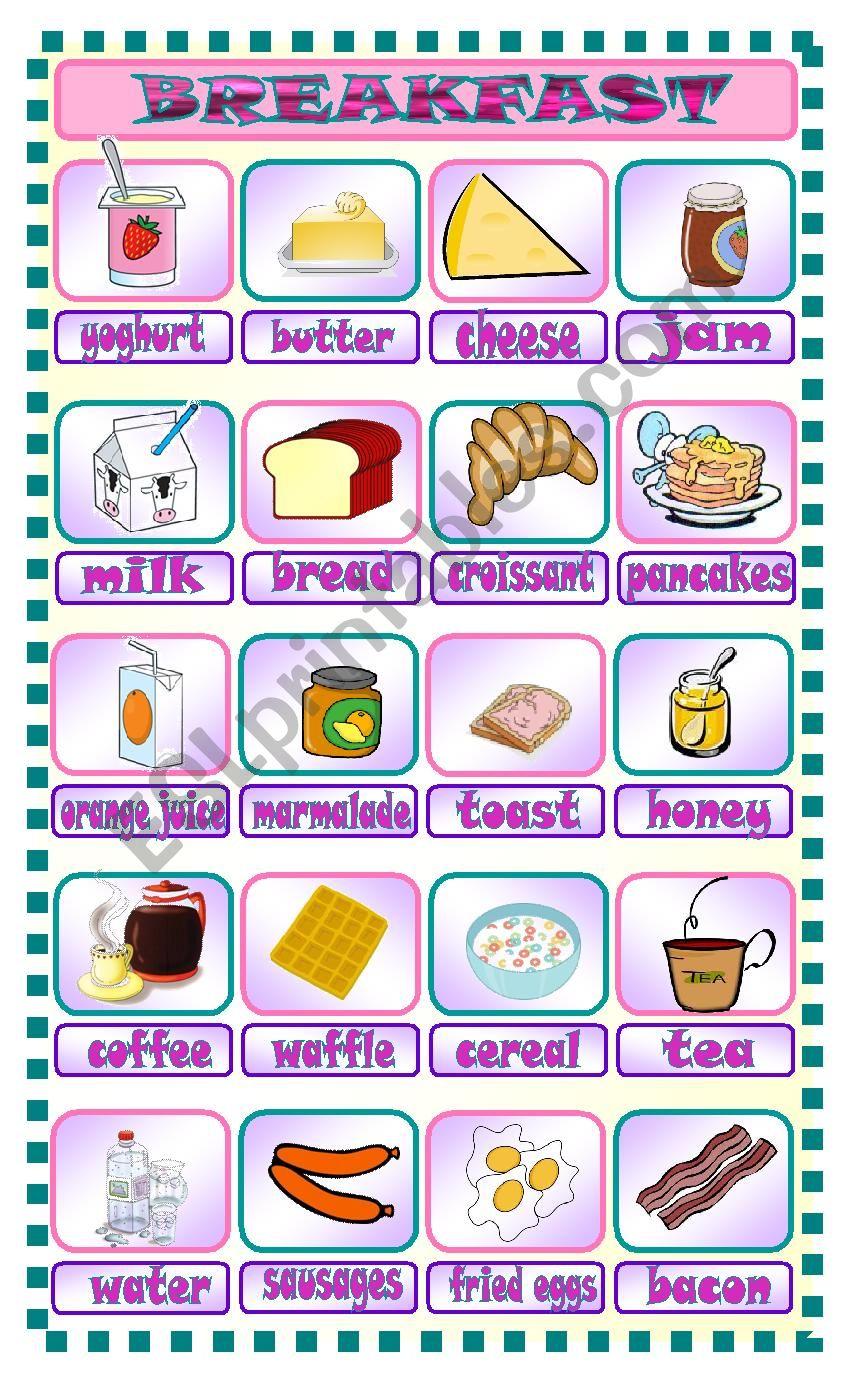 Breakfast worksheet