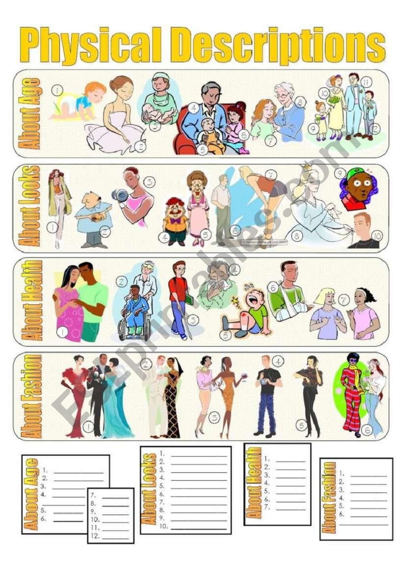 Physical Descriptions Exercises (2 Pages)