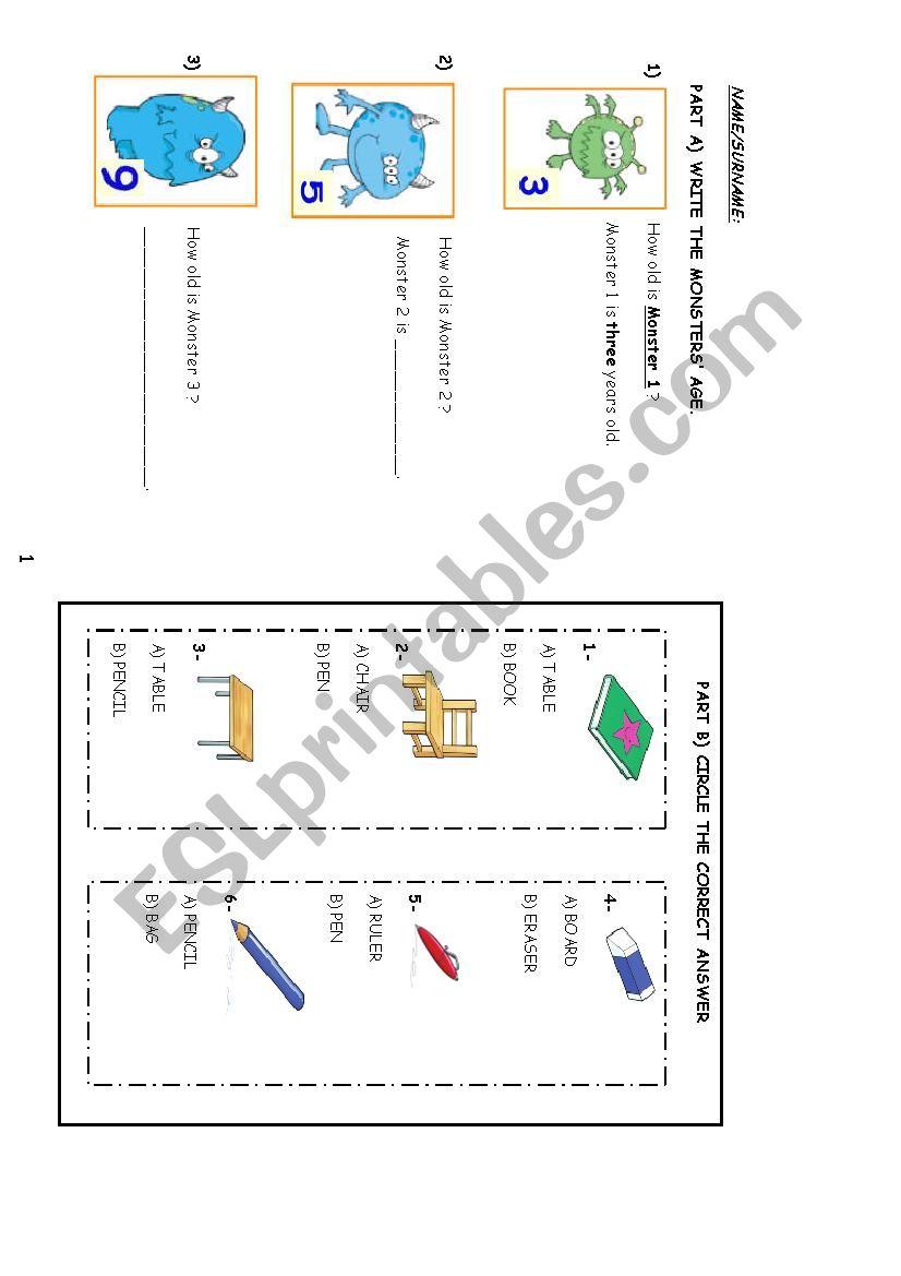 MY ABC ENGLISH ALPHABET worksheet