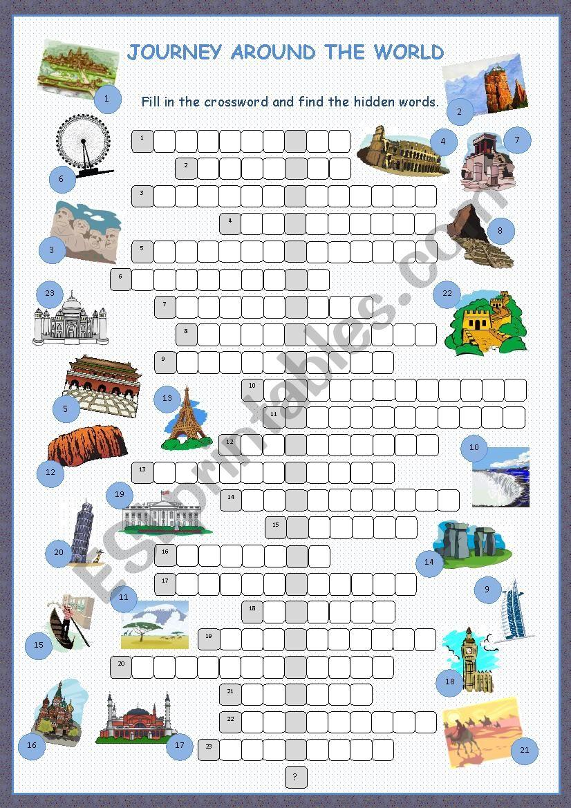 Journey Around The World Crossword Puzzle