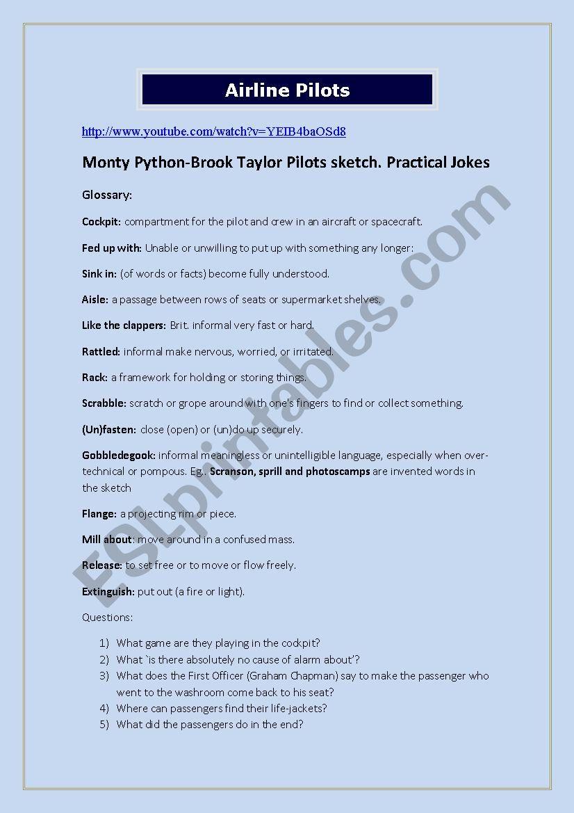 Monty Python Pilots Sketch (Practical Jokes)